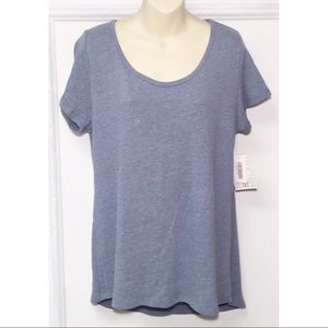 LuLaRoe Classic T in Heather Blue Size Medium